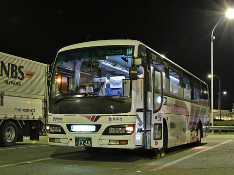 西鉄高速バス「フェニックス号」 9912 えびのパーキングエリアにて