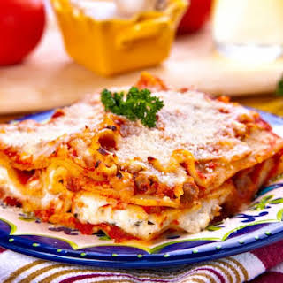 Quick And Easy Microwave Lasagna.