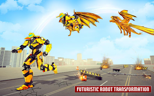 Dragon Robot Car Game u2013 Robot transforming games screenshots 8