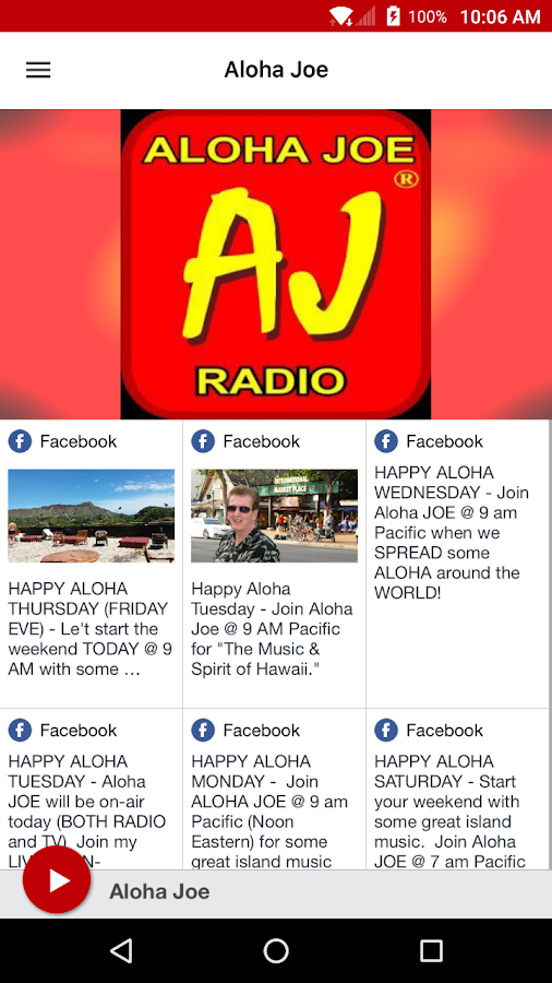 Aloha Joe Radio- screenshot