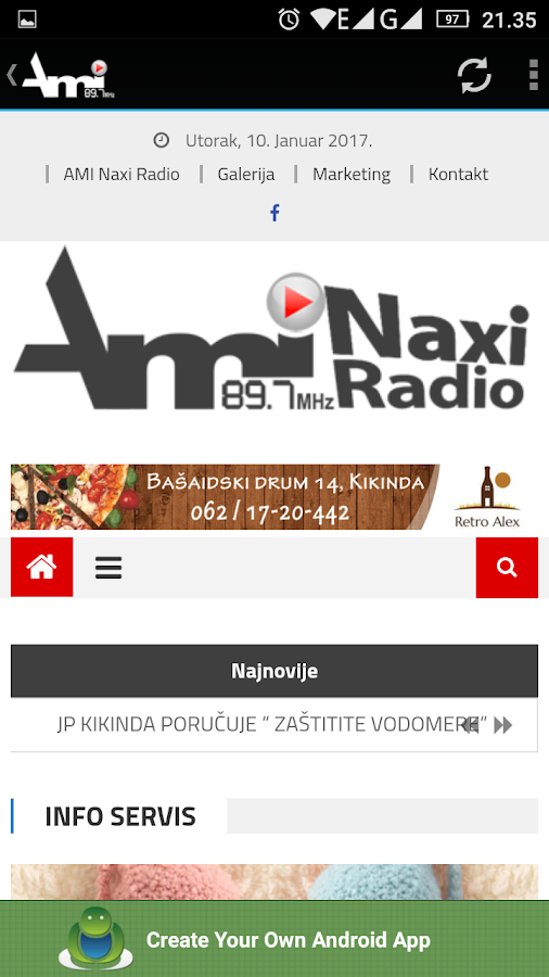 AMI NAXI RADIO 89.7MHz- screenshot