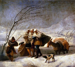 "Photo: Francisco Goya, ""La tempesta di neve"" (1786)"