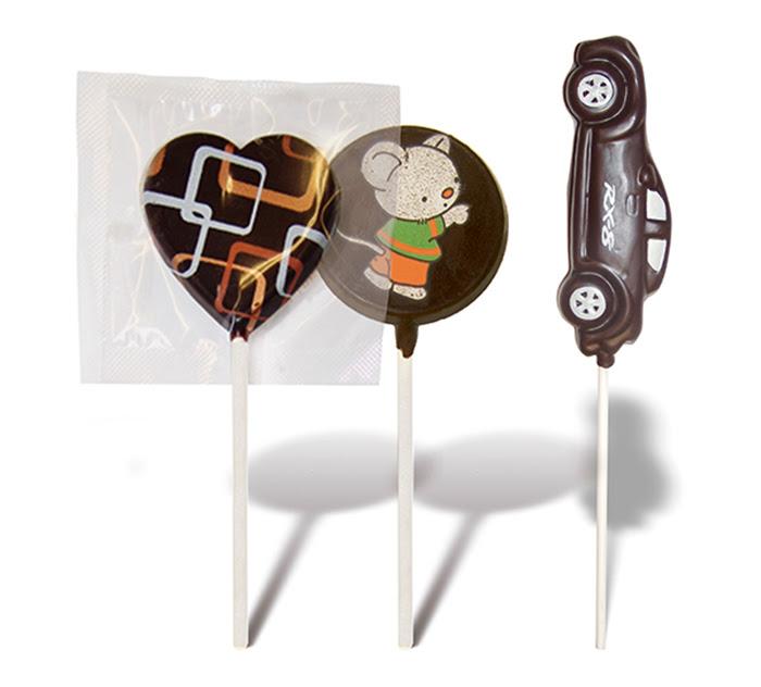 piruletas chocolate personalizadas