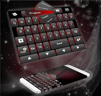 Černá červená klávesnice - náhled