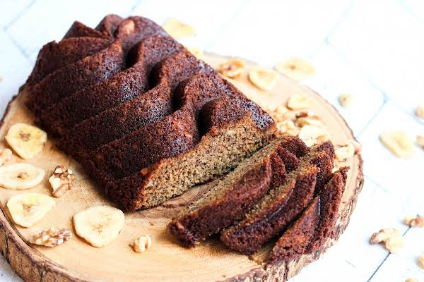 Slices Cut From The Extreme Banana Nut Bread.
