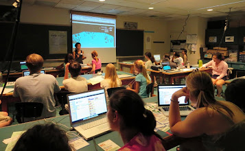 Photo: Students learn in a real MIT classroom!