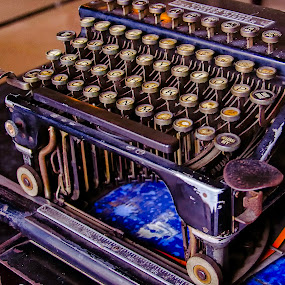 Old Typewriter by Erry Subhan - Products & Objects Business Objects ( old, typewriter, indonesia, jakarta, things, museum, steel, antique )