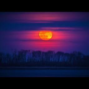 Pink moon by Andrew Medvegy - Landscapes Starscapes ( moon )