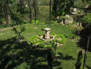 Photo: ... a private garden ...