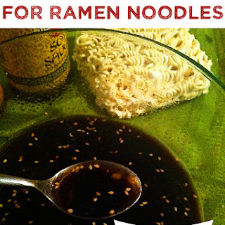 """Homemade """"Awesome Sauce"""" for Ramen Noodles."""
