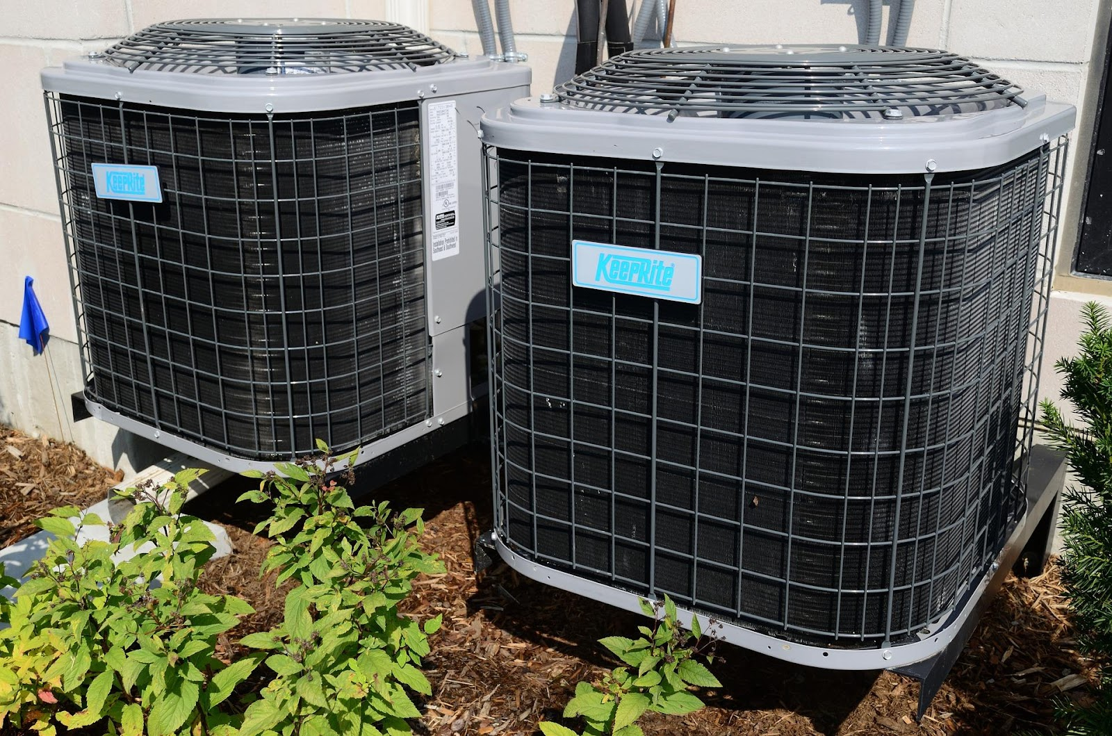 An HVAC system in use