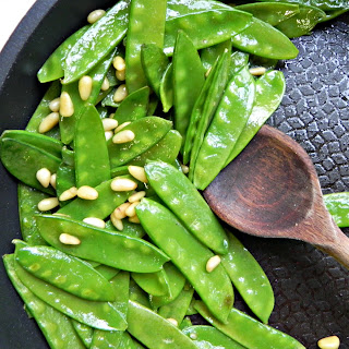 Fancy Sauteed Snow Peas.