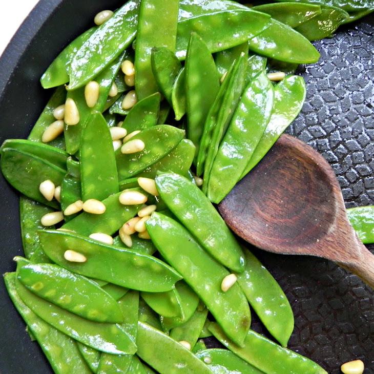 Fancy Sauteed Snow Peas
