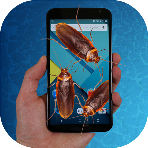 Cockroach run on screen prank (app)
