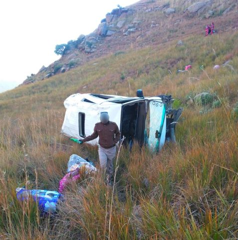 Two passengers were killed when a taxi rolled down a mountain on the R712 in the Golden Gate Reserve, Free State on June 13, 2018.