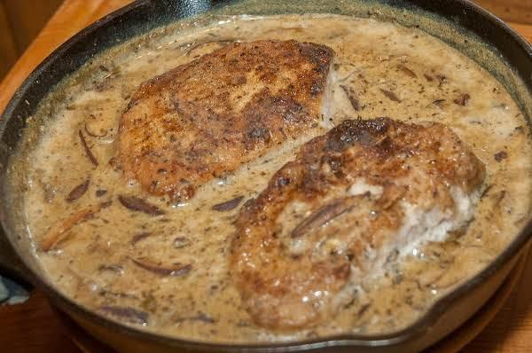 Pork Essentials: Chops In A Creamy Mushroom Sauce Recipe