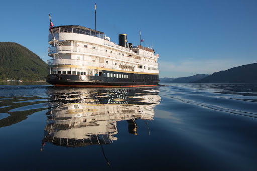 Uncruise-SSLegacy-stern.jpg - Sail through the natural beauty of Alaska and the Pacific Northwest on SS Legacy.