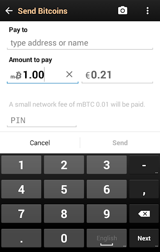 Bitcoin Wallet Screenshot