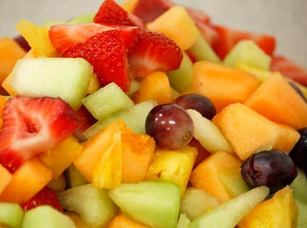 Wash,Chop and peel (if needed) fruit.