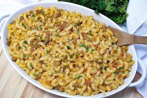 """Crock Pot Cheeseburger Mac""""So easy and yummy, this is a great comfort..."""