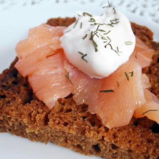 Smoked Salmon on Homemade Brown Bread