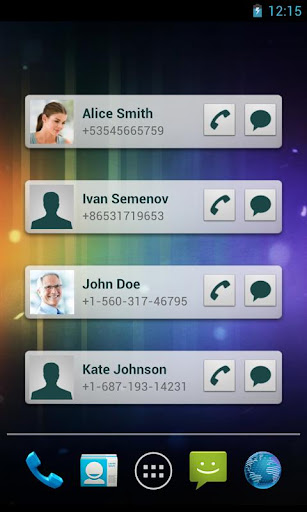 Quick Contacts screenshot 1