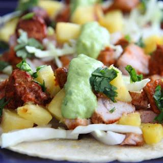 Tacos Al Pastor with Guacamole Taquero.
