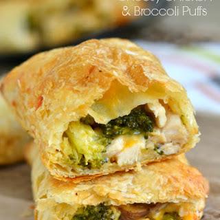 Cheesy Chicken and Broccoli Puffs.