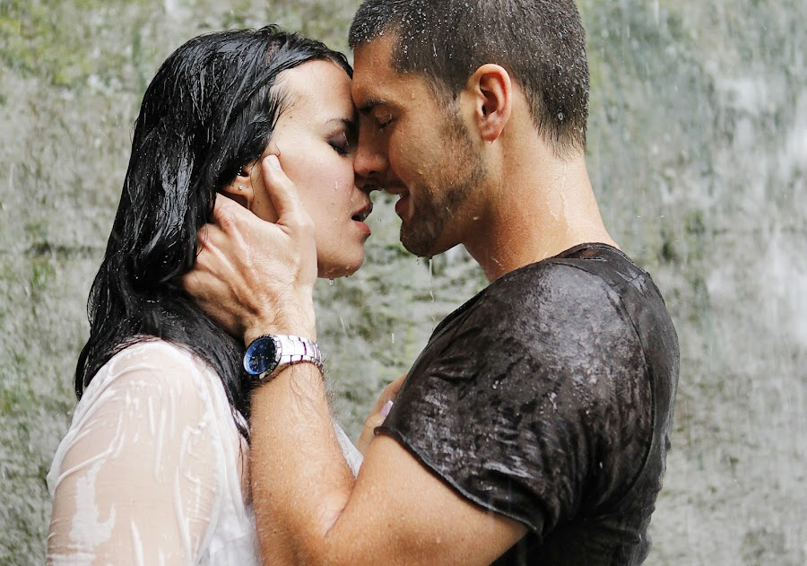 Waterfall Engagement by Brent Foster - People Couples ( waterfall engagement photos, engament photographer ontario )