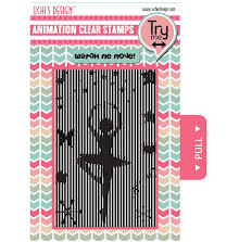Uchi´s Animation Clear Stamps & Grid Set - Ballerina