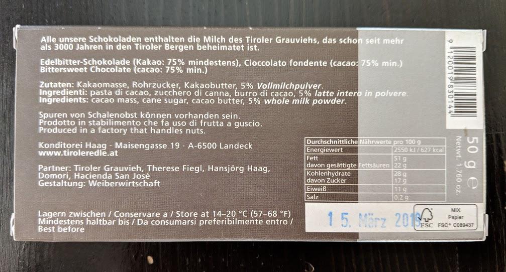 75% Tiroler Edle Bar