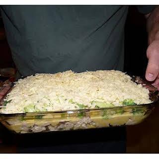 Cheesy Broccoli and Chicken Casserole.