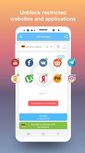 VPN Germany - Free and fast VPN connection 1.18 screenshots 2