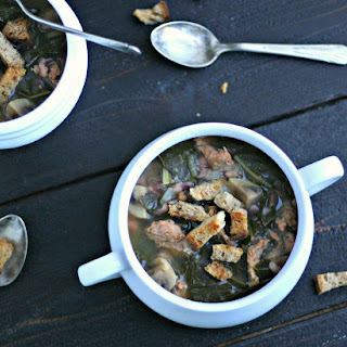Collard Greens Soup with Beans and Chicken Sausage Recipe