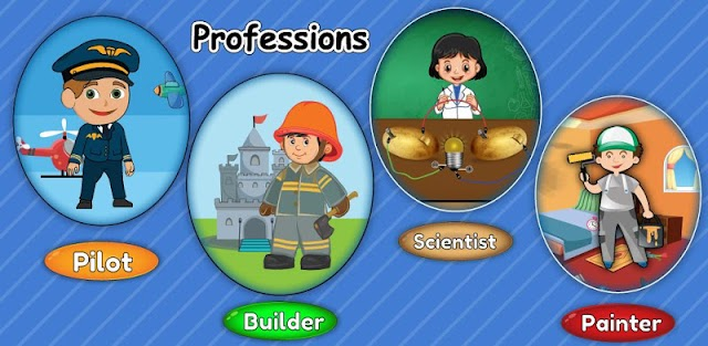 Kids Professions Learning Game - Baby Occupations