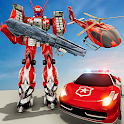 US Police Robot Transform Helicopter Wars 2 icon