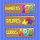 Juego para niños gratis. Colores, Números y Letras APK