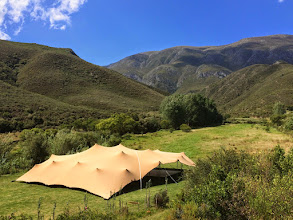 Photo: Large stretch tent on the meadow