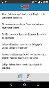 Notícias da OAB Bahia screenshot 0