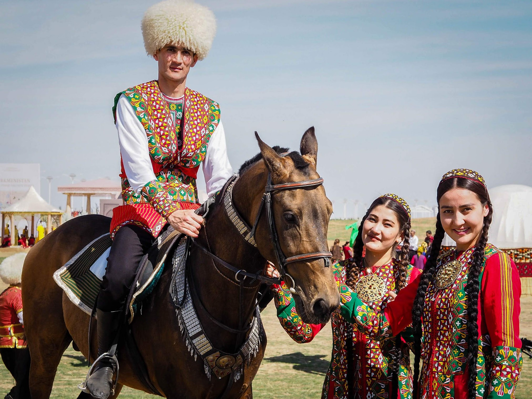 Akhal-Teke is a horse breed from Turkmenistan known for their speed and endurance, intelligence, and a distinctive metallic sheen. Turkmen are really proud of their horses.