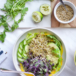 Sprouted Salad + Tahini Lime Dressing Recipe