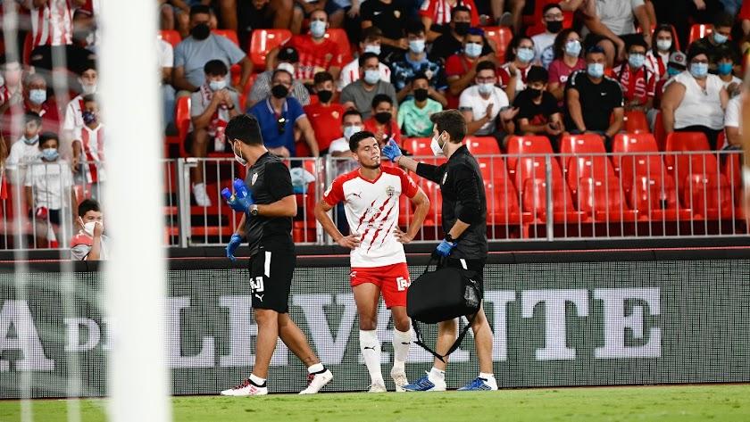 Robertone se lesionó ante Las Palmas.