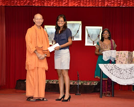 Photo: Award Receipient for the A Levels category - Lathiga.