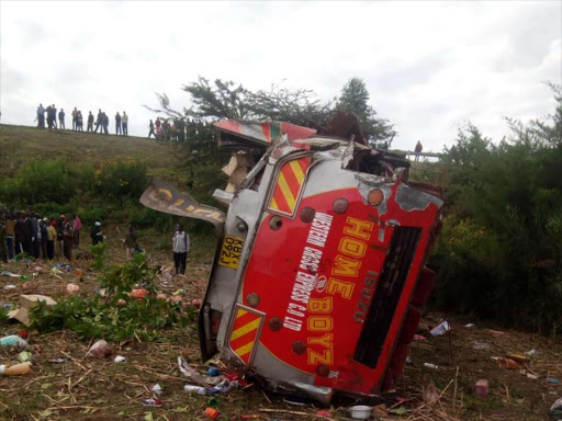 At least 50 people were killed in an accident on the Londiani-Muhoroni highway on Wednesday. /COURTESY