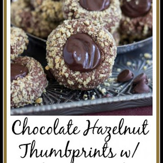 Chocolate Hazelnut Thumbprints with Kahlua Ganache Recipe