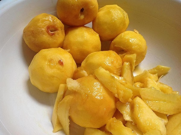 Once peeled, add them to a large bowl, and slice into medium thin slices....