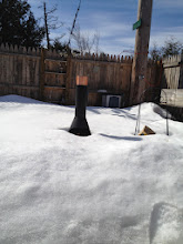 Photo: The snow has gone down quite a bit. A fire in another week?