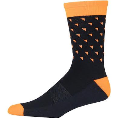 45NRTH Midweight Sock - Orange Triangles