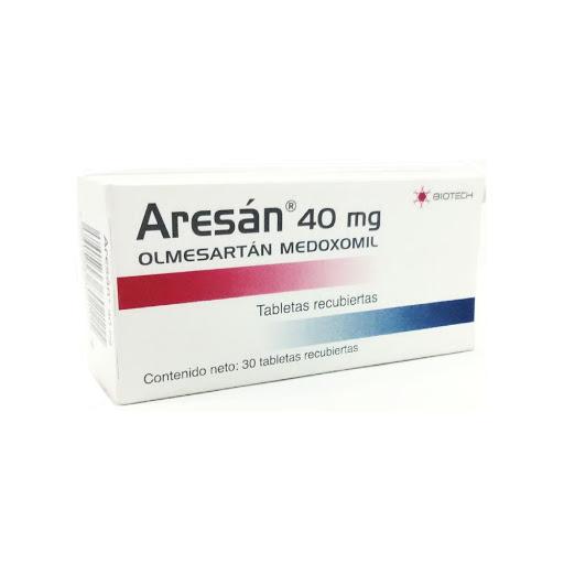 Olmesartan + Hidroclorotiazida Aresan 40mg