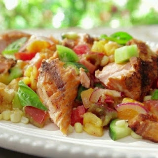 Grilled Chicken With Corn And Cucumber Salad
